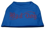 Bad Dog Rhinestone Shirts Blue XS